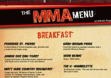 The MMA Menu